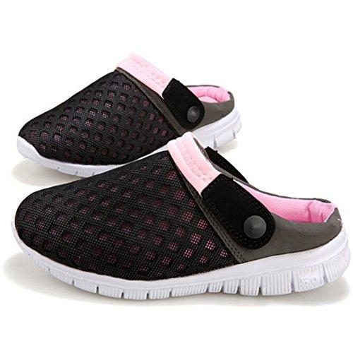 Ama (tm) Män Kvinnor Par Sommarventilerande Mesh Sneakers Casual Utomhus Sandaler Skor Rosa