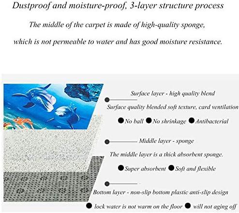 Coperta del corridoio del Tappeto di Stampa 3D, stuoia eccitante Antiscivolo Area d'ingresso Resistente all'Usura Cucina dell'hotel Scale Portico Bagno,160 * 240cm