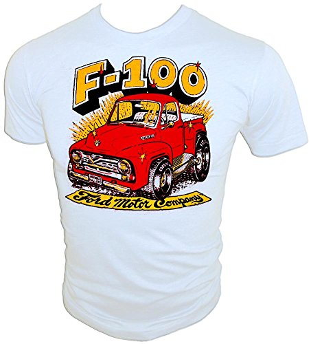 (1955 F-100 Ford Pick-up Truck ORIGINAL vintage 70's Iron-On T-Shirt, medium)