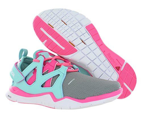 TR Shoes Reebok Grey Junior's Training Zcut Pink White Size Blue aqZwPH4Z