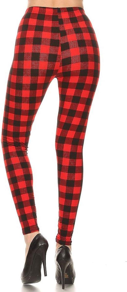 Leggings Depot Womens Ultra Soft High Waist Fashion Leggings BAT1