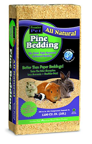 Pet's Pick Pine Bedding, 1200 cu in great for PETS like G...