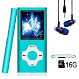MP3 Player / MP4 Player, Hotechs MP3 Music Player with 16GB Memory SD card Slim Classic Digital LCD 1.81'' Screen MINI USB Port with FM Radio, Voice record