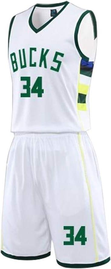 HHUT Hombres Jersey - NBA Giannis Antetokounmpo - Milwaukee Bucks ...