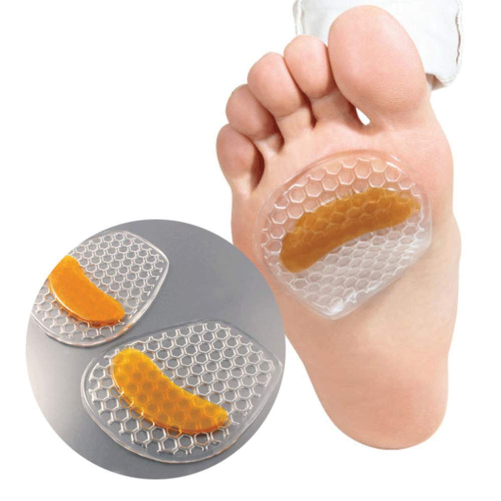 Metatarsal Pads Forefoot Pad - Ball of Foot Cushions - Metatarsal Cushion Mortons Neuroma -Gel Foot Cushion - Mortons Neuroma Callus Metatarsal - Soft Gel Foot(2 Pairs)