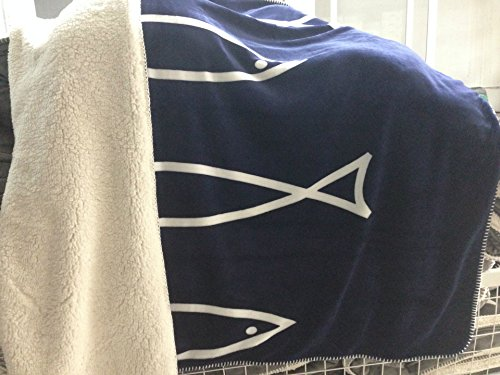 CNMQ-Plus the fish on both sides of the big five-pointed star cross double blanket cashmere blanket flannel,7,150cm×200cm
