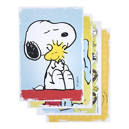 DaySpring Encouragement Greeting Card with Embossed White Envelopes, 12 Count, Peanuts (74870)