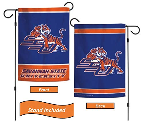Savannah Stand - Savannah State Tigers Garden Flag Set with Stand, Printed in The USA, 12.5