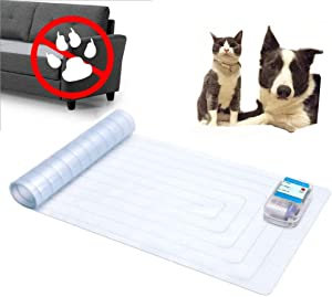JSBH Upgraded Scat Mat - 12 x 60-inch Indoor Electronic Pet Shock Pad, Keep Pets Off Couch and Furniture Repellent/Deterrent ScatMat Training Mats for Dogs & Cats with LED Indicator
