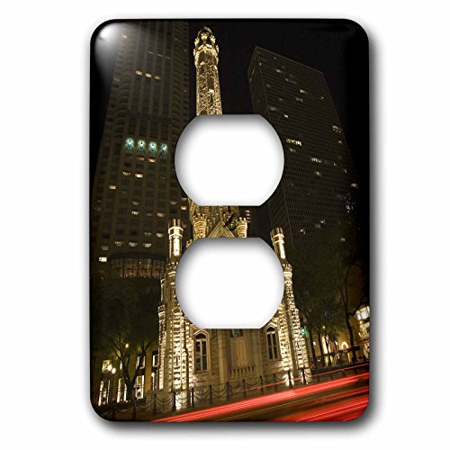 Historic Water Tower (Danita Delimont - Chicago - Illinois, Chicago. Water Tower on Michigan Avenue - US14 BJA0027 - Jaynes Gallery - Light Switch Covers - 2 plug outlet cover)