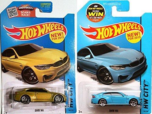 M Series BMW Blue & Gold Car Set Hot Wheel BMW M4 #24 Varian