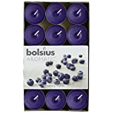 Aromatic 103626944491 Blueberry Scented Tealight, Paraffin Wax, Blue by Aromatic