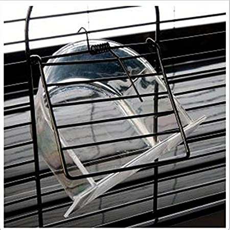 Simple Negro, jaula de metal pulverizado con base extraíble ...