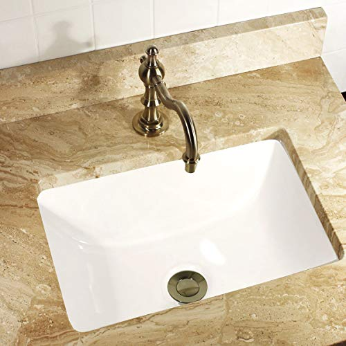 (HIGHPOINT COLLECTION Petite 16x11 Rectangle Ceramic Undermount Vanity Lavatory Sink)