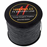 2000m 2187yds Gray 6lbs-100lbs Hercules Pe Dyneema Braided Fishing Line 4 Strands (80lb/36.3kg 0.48mm) Review