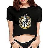 Women's Harry Potter Hufflepuff Crop Top Shirs