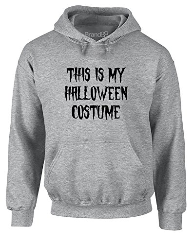 Halloween Costumes Male Pinterest (This is my Halloween Costume, Printed Hoodie - Sports Grey/Black)