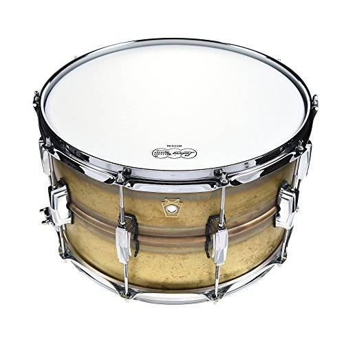 Ludwig 8x14 Raw Brass Phonic Snare Drum Raw Brass Hoop