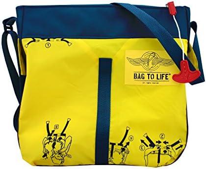BAG TO LIFE Messenger Bag Classic Flyer Blue Umhängetasche UNIKAT Schultertasche