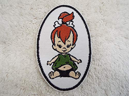 Flintstones PEBBLES Embroidered Iron-on -