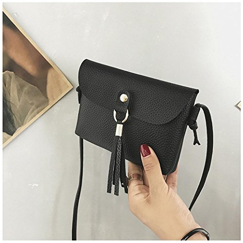 Leather Seaintheson Tassel Small Bag Bags Bags Mini Brown Vintage Handbag Shoulder Shoulder Bag Fashion Black1 Clearance Crossbody Messenger Purse Shoulder wqzEWFZ