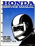 1988-1992 Honda Motorcycle VT600C SHADOW VLX Service Manual (402)