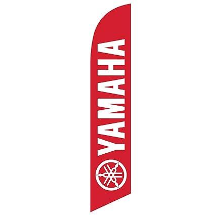 Amazon.com: 12 ft x 2.5 ft Yamaha plumas Banner bandera ...