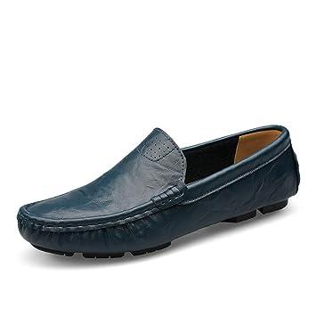 Willsego Mocasines Populares Transpirables Mocasines Ocasionales de los Hombres para niños (Color : Azul Oscuro, tamaño : 5.5 UK): Amazon.es: Hogar