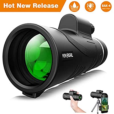 Monocular Telescope, 12X50 High Power & HD Monocular with Universal Smartphone Holder - [Upgrade] Dual Focus Optics Scope, Waterproof Scope, BAK4 Prism FMC for Bird Watching, Hunting, Camping, Hiking