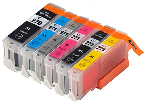Blake Printing Supply 6 Pack Ink Cartridges for CLI-271 270, PGI-270, PGI-270XL CLI-271XL for Printers MG7720, MG6820, MG5720, TS9020, TS8020, TS6020, TS5020