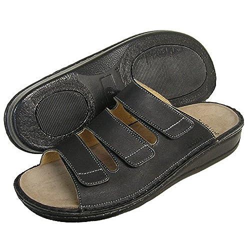 Fidelio Men's Soft-Line Slide Sandal 375023 (Black)