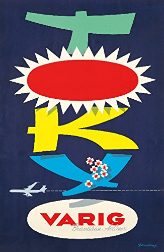 varig-tokyo-vintage-poster-artist-fagundes-brazil-c-1960-24x36-collectible-giclee-gallery-print-wall