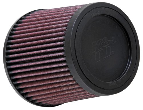 K&N RU-4950 Universal Clamp-On Air Filter: Round Tapered; 2.5 in (64 mm) Flange ID; 5.5 in (140 mm) Height; 6 in (152 mm) Base; 5 in (127 mm) Top