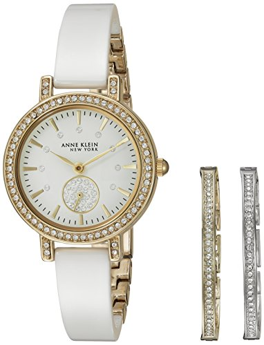 Anne Klein Swiss Watches (Anne Klein New York Women's Swiss Quartz Metal and Ceramic Dress Watch, Color:White (Model:)