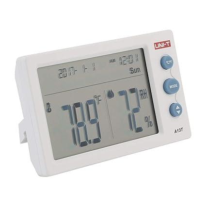 UNI-T A13T Medidor de temperatura de humedad LCD Termómetro digital higrómetro Detector Termómetro Higrómetro