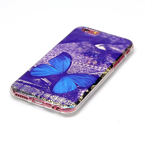 Apple iPhone 6/6S Étui Housse Coque Gel TPU papillon Design decui Multicolore Gel/TPU Coque