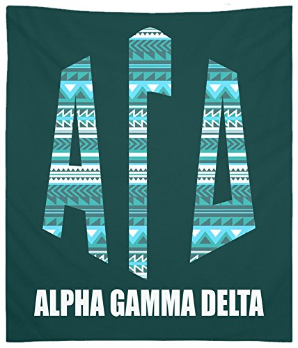 Monogram Tapestry - Alpha Gamma Delta (AGD) Tribal 5 Monogram Wall Tapestry for Bedroom and Wall Decor for Dorm
