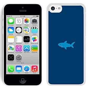 Unique Designed Cover Case For iPhone 5C With Ak Little Small Cute Shark Minimal (2) Phone Case