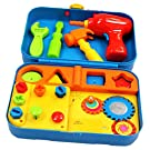 Kidoozie Cool Tools Activity Set - Pretend Play, Shape Sorting, and Fine Motor Activities with Fun Sounds - 18+ Months