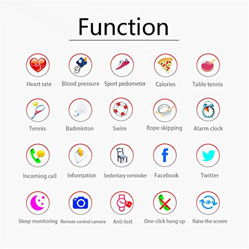 Yukuai Sport Smartwatch Bracelet, Waterproof Fitness Activity Tracker Heart Rate Weather Forecast Sleep Monitor Pedometer, Multifunctional Sport Bracelet for Android iOS