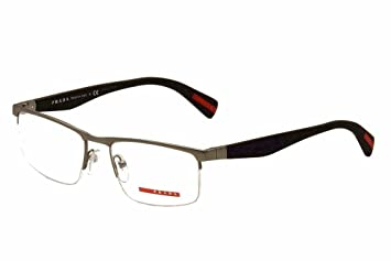 bdce443a4ab4 Image Unavailable. Image not available for. Color  Prada Sport Rx Eyeglasses  Frames Vpr 52f Ua3-1o1 54x18 Gunmetal Made In Italy