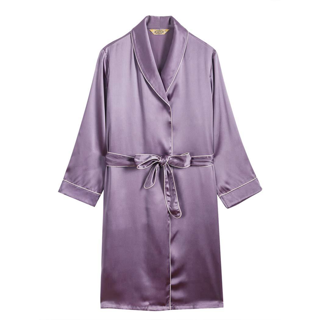 DPPAN Seda Pijama Albornoz Kimono, Sexy Bata Cuello en V ...