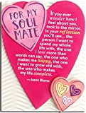 """Miniature Easel Print with Magnet: For My Soul Mate, 3.6"""" x 4.9"""""""