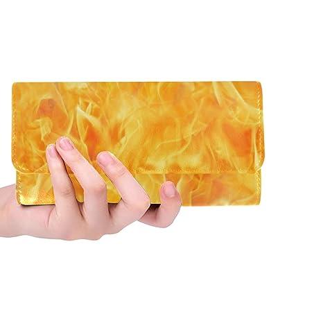 Único Personalizado Blaze Fire Flame Textura Mujeres ...