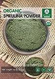 Organic Spirulina Powder - 100% Pure and Natural (16 Ounces)