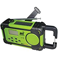 SolaDyne Emergency Alert Radio & Flashlight, Green