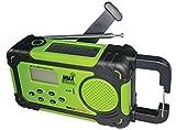 SolaDyne Emergency Alert Radio & Flashlight, Green