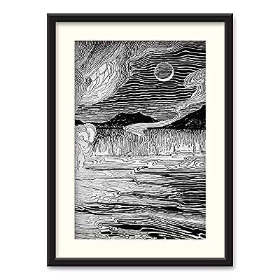 Black Paper Framed for Living Room Bedroom Beasts Black and White for, Top Quality Design, Majestic Artisanship
