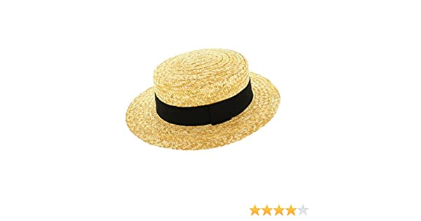 Votrechapeau-Sombrero de paja-Canotier-auténtica  Amazon.es  Ropa y  accesorios b1df7f862be