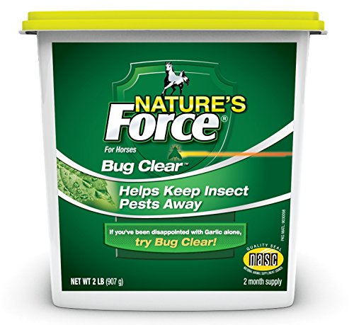 Manna Pro Nature's Force Bug Clear, 2 lb (Best Feed Through Fly Control For Horses)